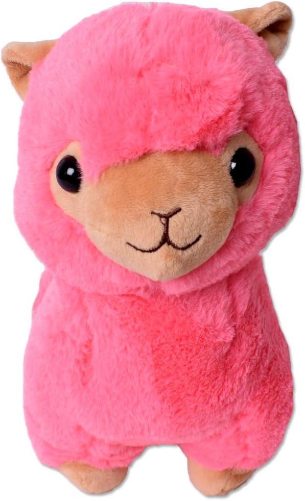 TE-Trend XXL Felpa Alpaca Alpaca Lama Peluche Animal de Peluche Deco Animal Blandito Bebé Niños Regalo 30-65 cm Rosa - 30cm Rosa