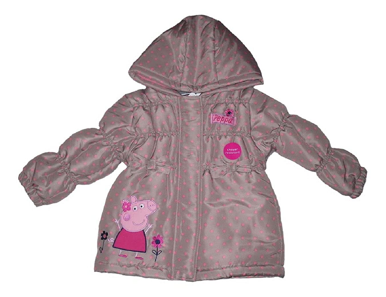 Girls Coat Winter Jacket Padded Official Peppa Pig 1-6 Years Old