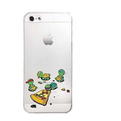 Amazon.com: Cute Ninja Turtle Slim Transparente iPhone 6 6S ...