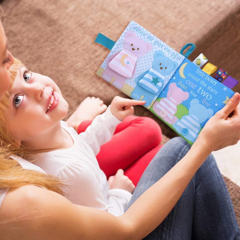 Domybest Livre en Tissu pour B/éb/é Livres dactivit/é en Tissu Doux 3D Livre D/éveil Apprentissage Pr/écoce Jouet /éducatif pour Enfants 0-3 Ans