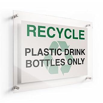 Amazon.com: lichtworks Letrero Reciclar acrílico de botellas ...