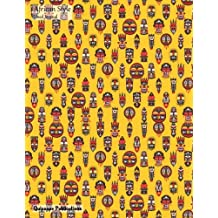 African Style Lined Journal: Large College Ruled Notebook With African Masks Pattern Cover