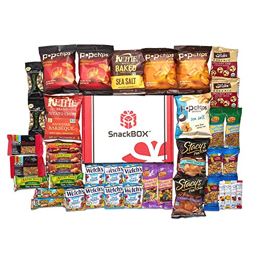 Healthy Snacks Care Package for College Students, Dorms, Campus, Valentines Day, Get well and Back to School (40 Count)
