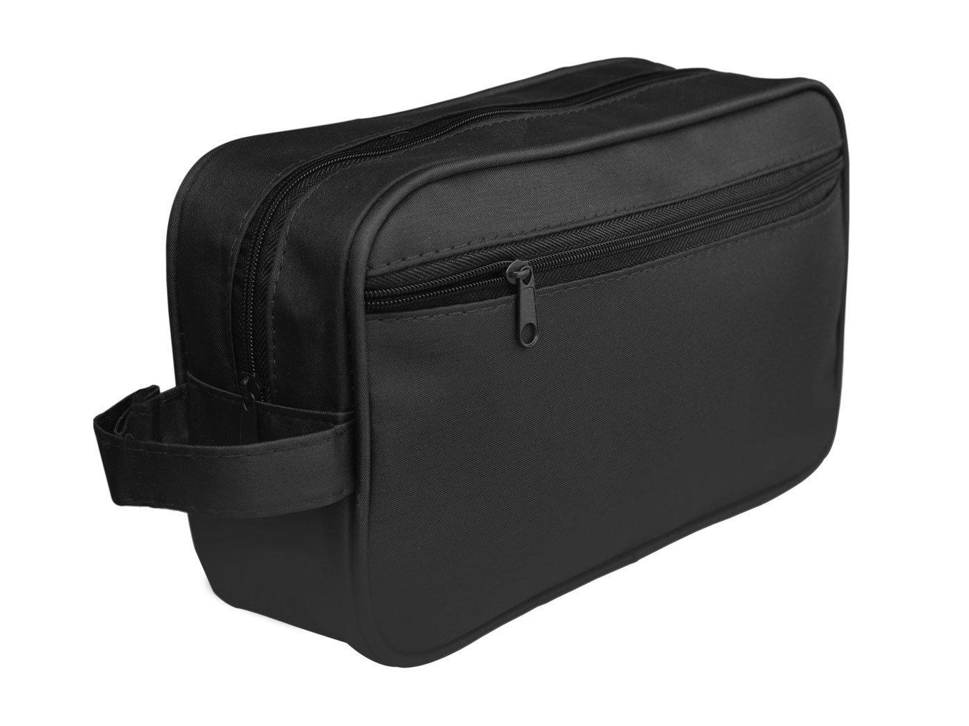 489064e443 Toiletry Bag Travel Overnight Wash Gym Shaving Bag For Men s Or Ladies  (Black)  Amazon.co.uk  Luggage