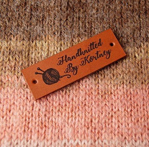 Crochet Labels Custom Clothing Knitting Leather Logo Branding Tags