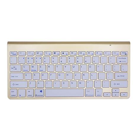 Teclado inalámbrico Bluetooth, URCO Ultraslim portátil Quiet Bluetooth 3.0 teclado Teclado inalámbrico recargable para Android