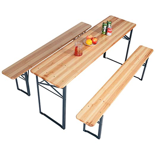 Mesa de cerveza set de mesa y sillas de jardín cervecería fête ...