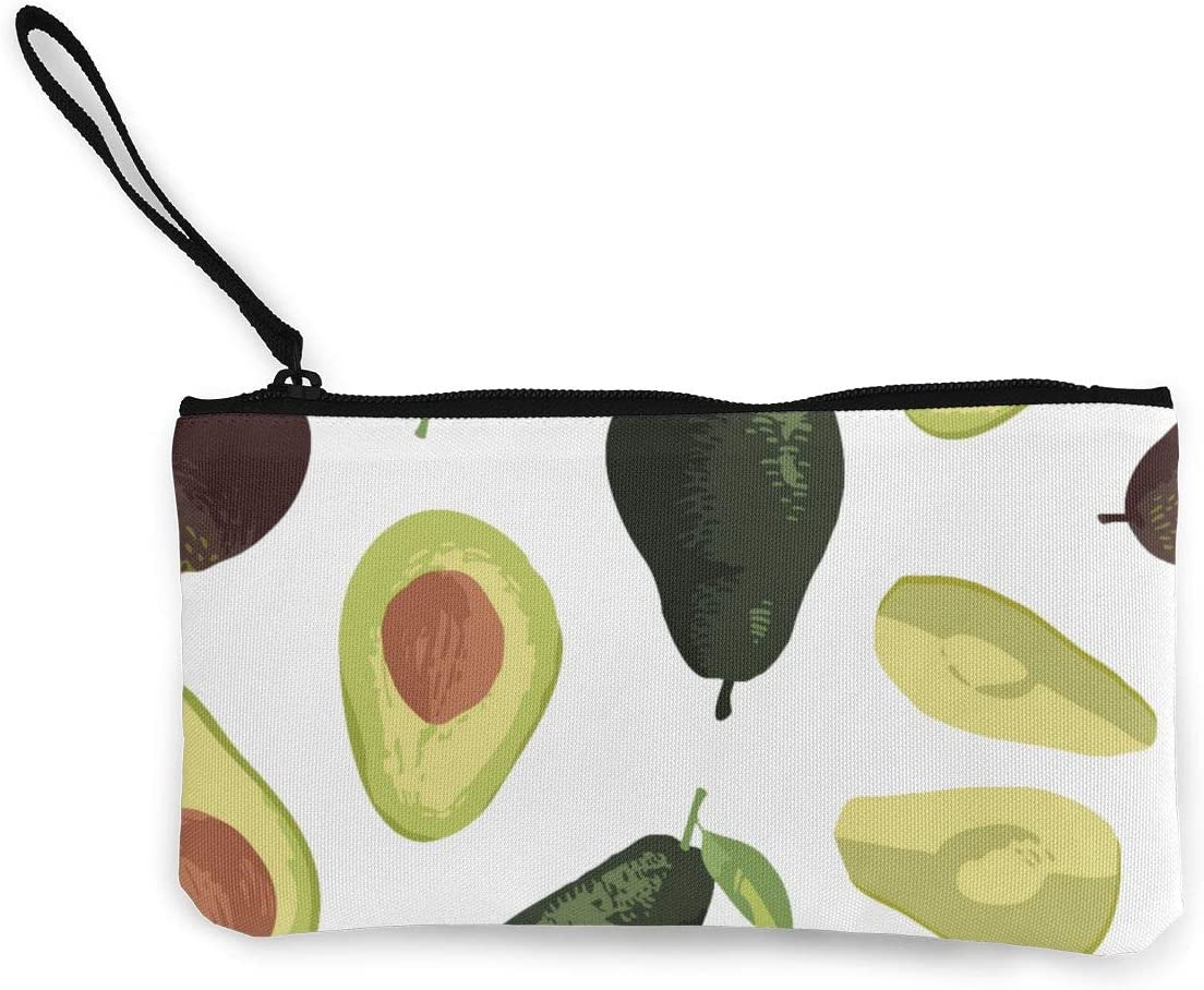 Rterss Porte-Monnaie en Toile avec poign/ée Motif Fruits et Avocat