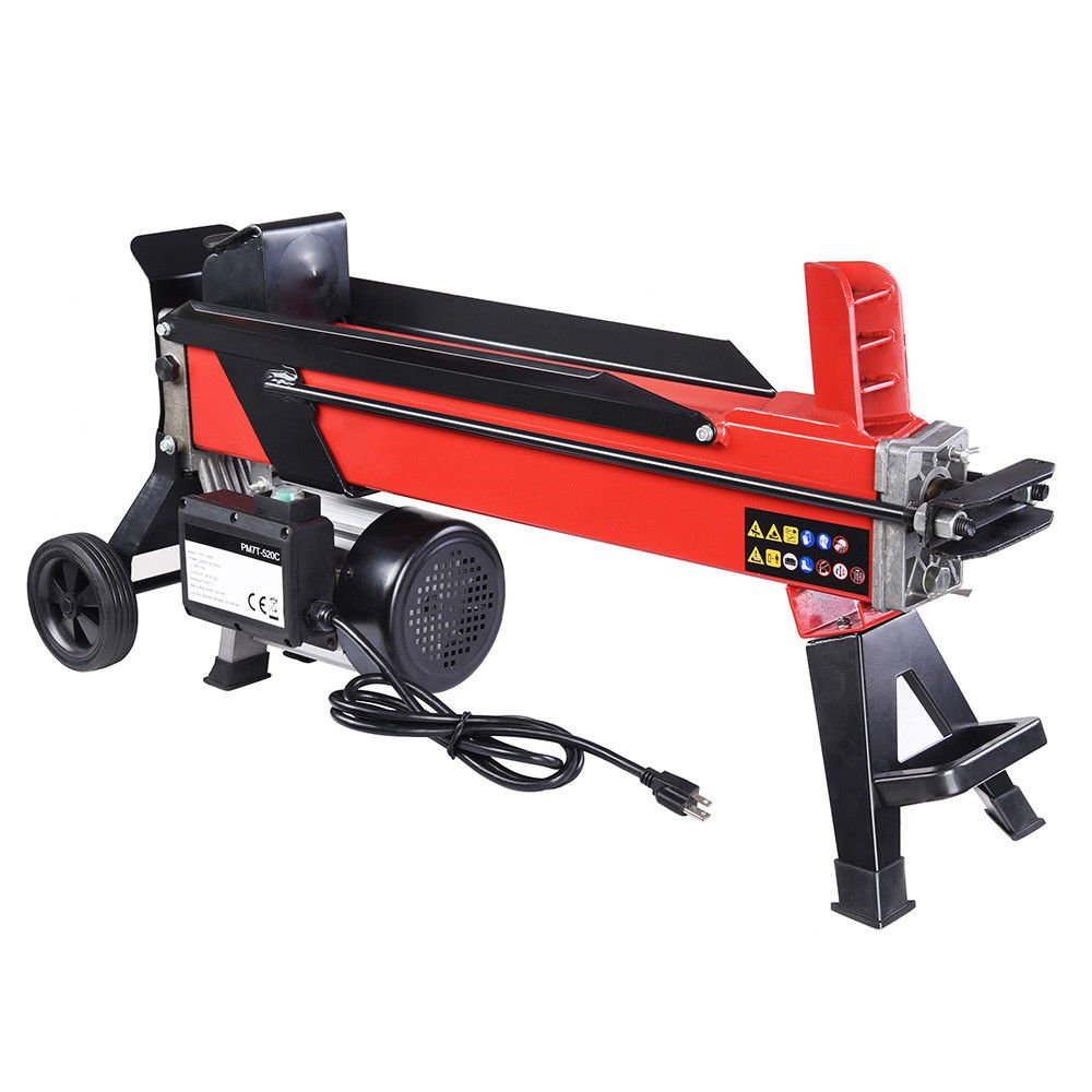 9TRADING Electrical Hydraulic Log Splitter 7 Ton Powerful Firewood Wood Kindling Cutter, Free Tax, Delivered Within 10 Days