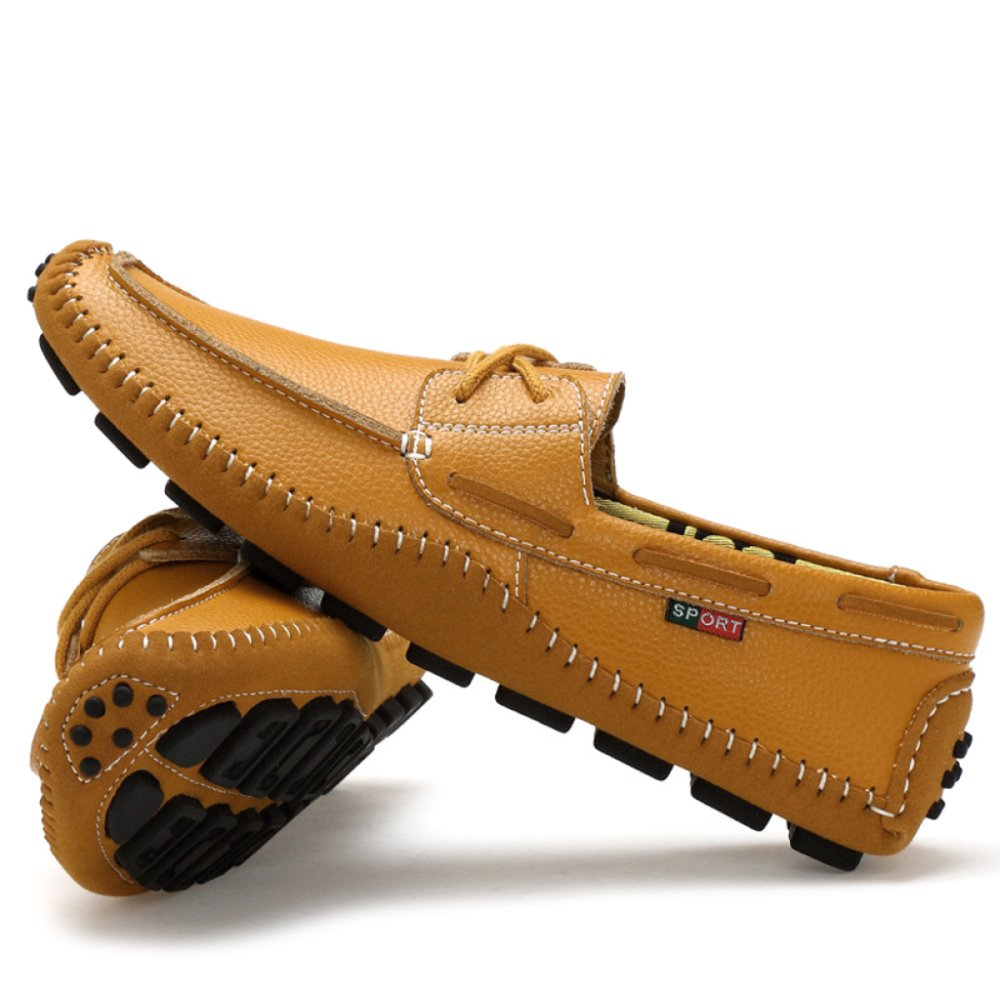 Oxford-Schuhe Für Für Herren Leder Schnür Stiefelschuhe Für Für Herren Slip-on Mokassins Schuhe Deck Schuh Mode Loafer Braun fb7c04