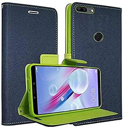 best authentic 4a04f 567c5 Ridivishn Flip Cover Case Wallet Style For Redmi Note 5 Pro (5.99 Inch)  (Blue & Green)