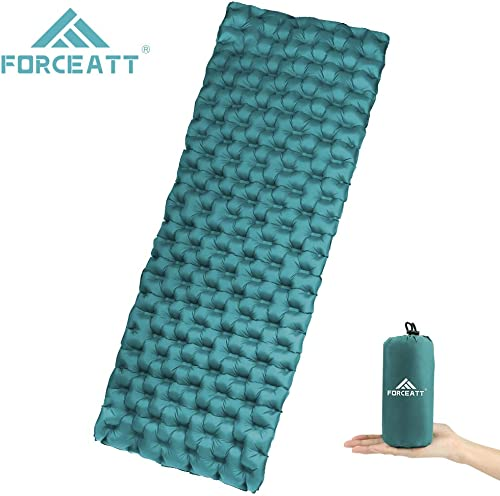 Forceatt Camping Sleeping pad Ultralight self Inflating Sleeping pad,for Backpacks, Travel, Hiking, Durable Waterproof Cushions, Small Ultralight Hiking mats