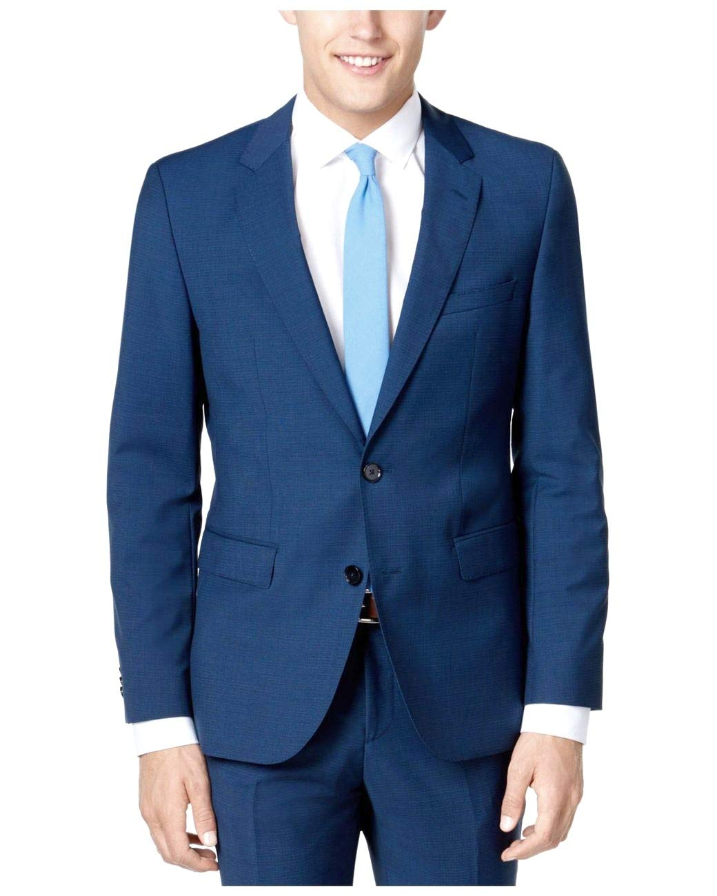 92330c7c0 Hugo Boss 2 Piece Set Slim Fit Men's Suit Wool C-Jeffery/C-Simmons Micro  Check Blue Retail Price $695.00 – Shop New York Style Guide