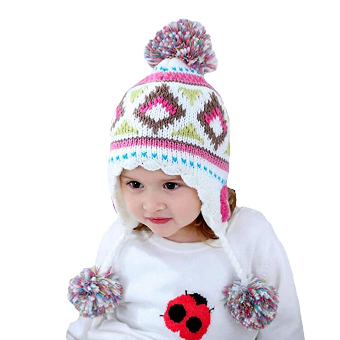 Image Unavailable. Image not available for. Color  Toddler Kids Earflap  Hats Baby Girls Winter ... a2c254f109e