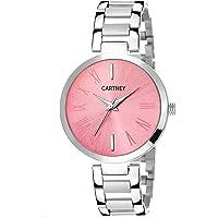 Cartney Analog Pink Dial Watch for Women & Girl's - (1093-PNK)