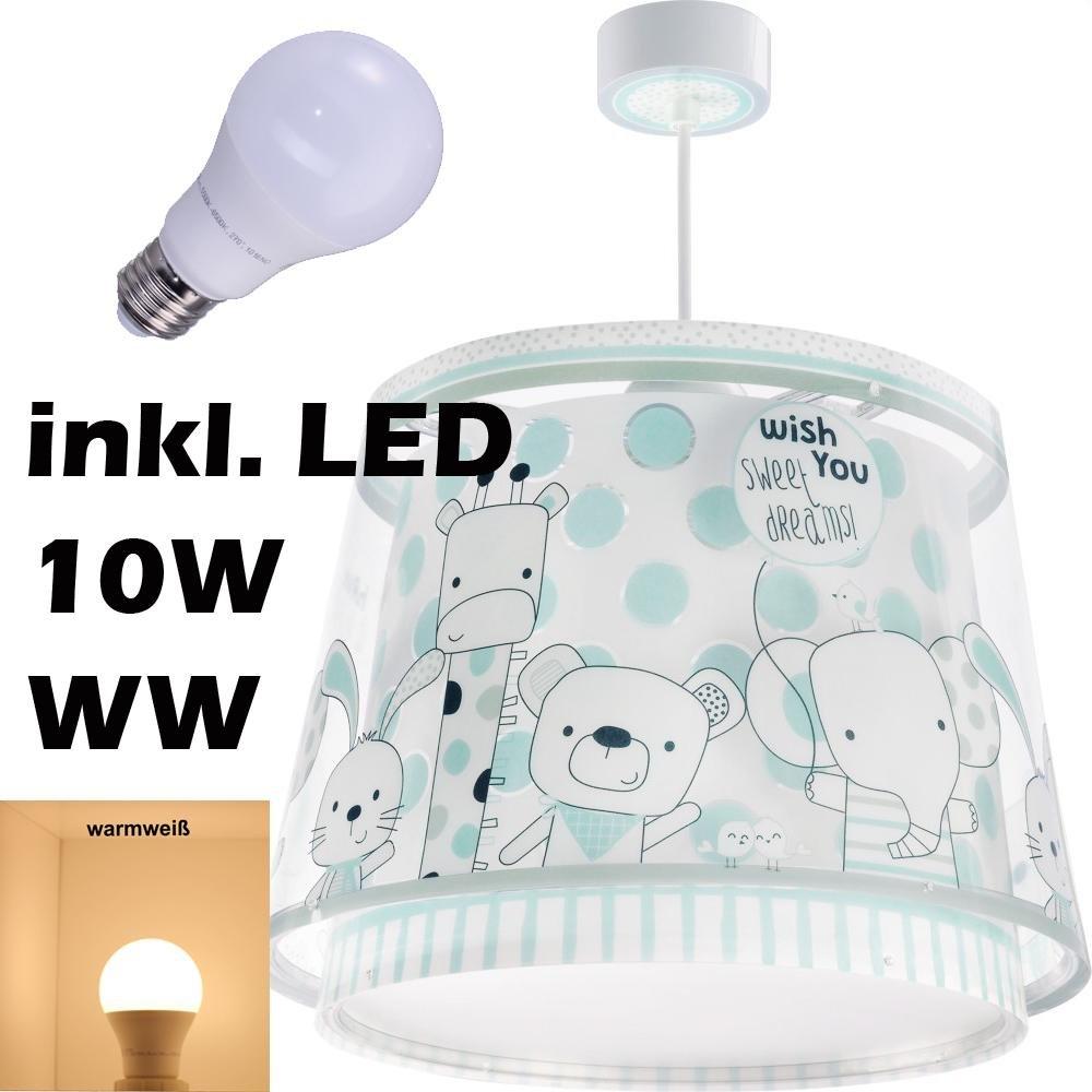 LED Lampe Kinderzimmer Decke Pendelleuchte Tebby 80122 Warmweiß 800lm Jungen