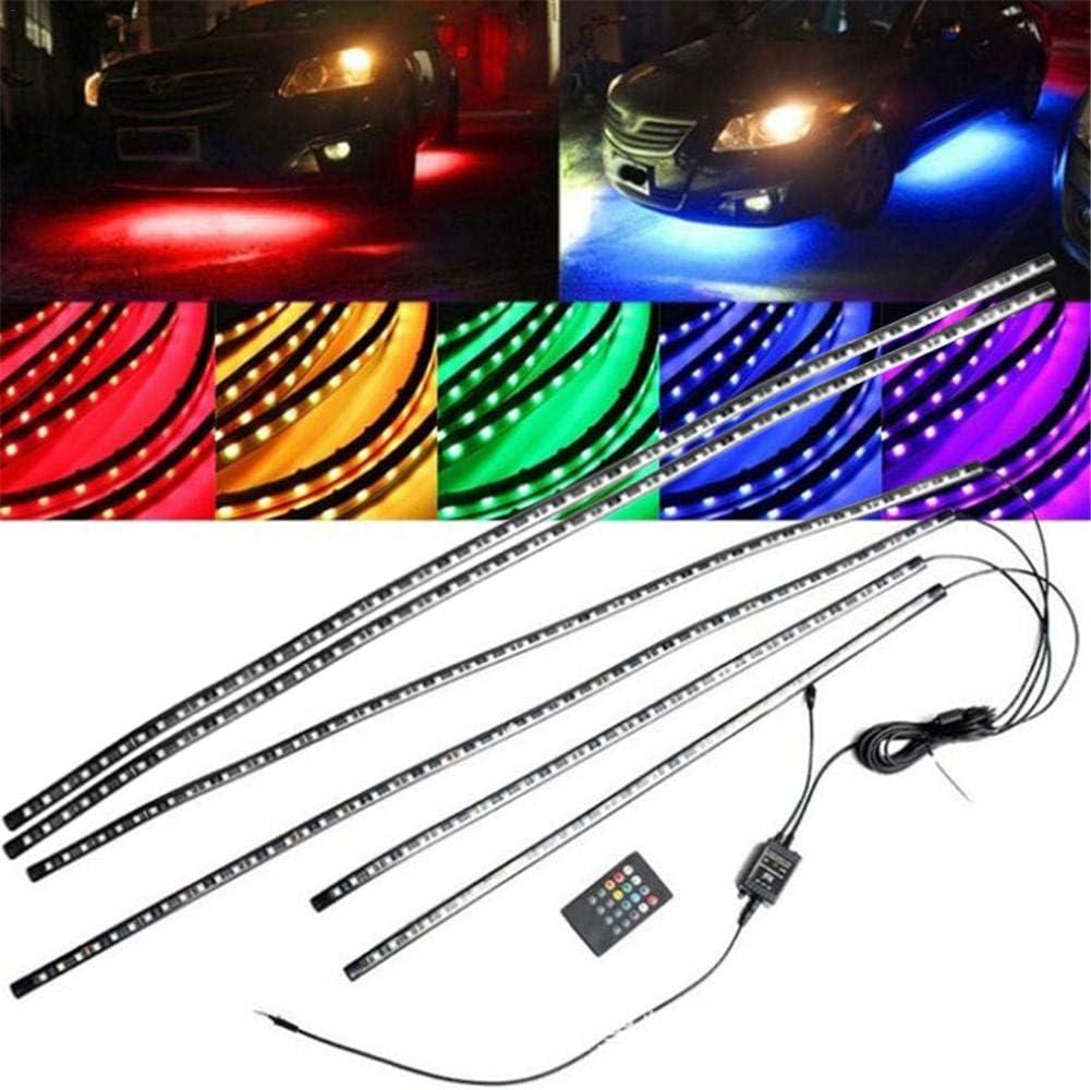 Set di 4 strisce luminose per auto kit di illuminazione d/'atmosfera per esterni con controllo sonoro 2 x 60 cm + 2 x 90 cm
