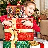 Advent Calendar 2020 Christmas Countdown Calendar - Christmas Themed DIY Charm Bracelet Making Kit for Girls, Jewelry Gift Set Including 22 Charms Beads, 1 Bracelet, 1 Nelace, Red