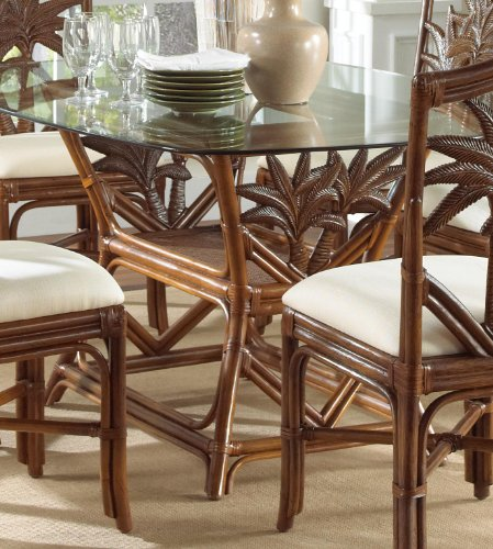 Indoor Rattan   Wicker Rectangular Dining Table Tc Antique