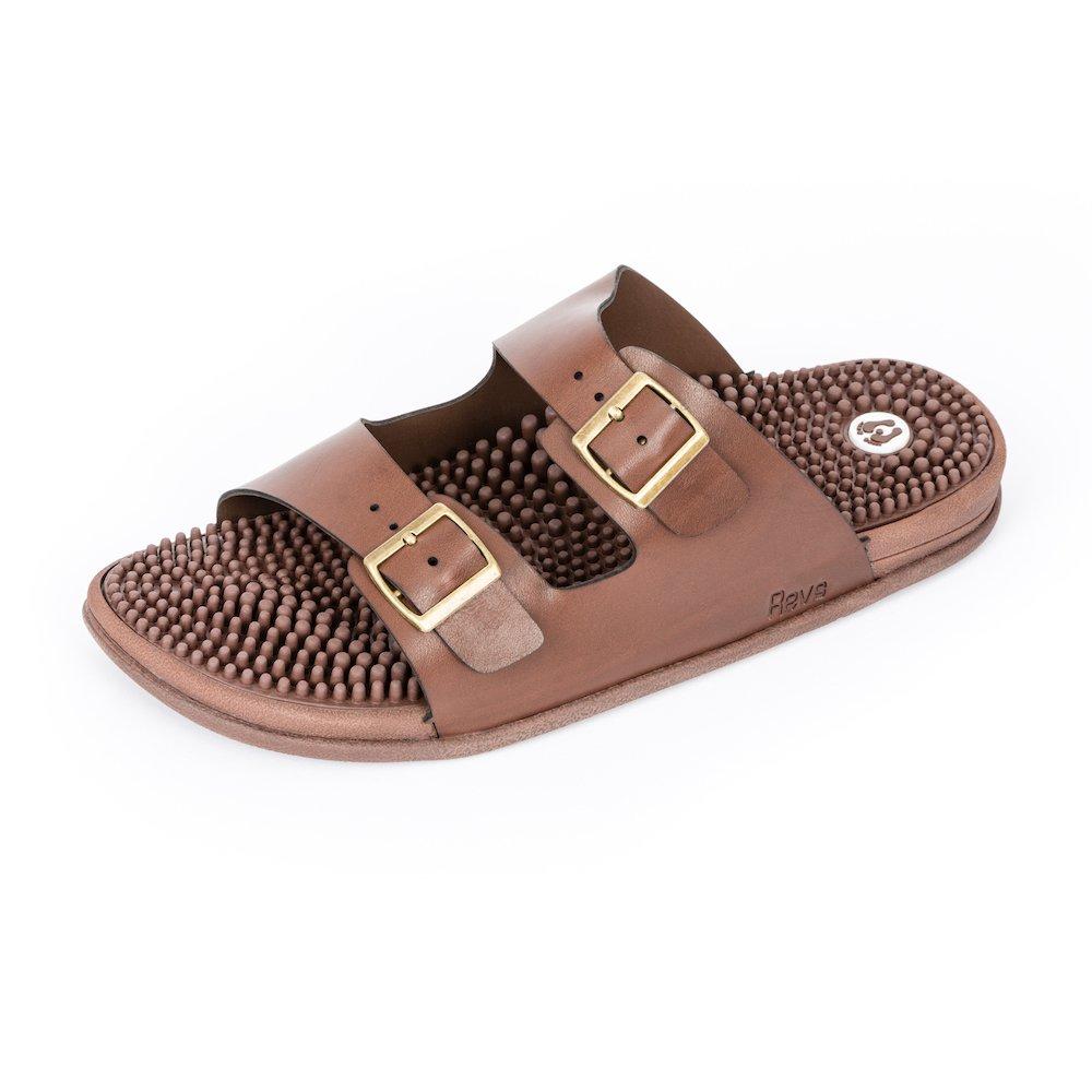 Revs Savings Seva Sandals, Reflexology Sandals for Men & Women. Shock Absorbing, Cushion Comfort & Arch Support B01N2ORTWS 29cm / Women US 11.5-12 / Men US 10.5-11|Brown