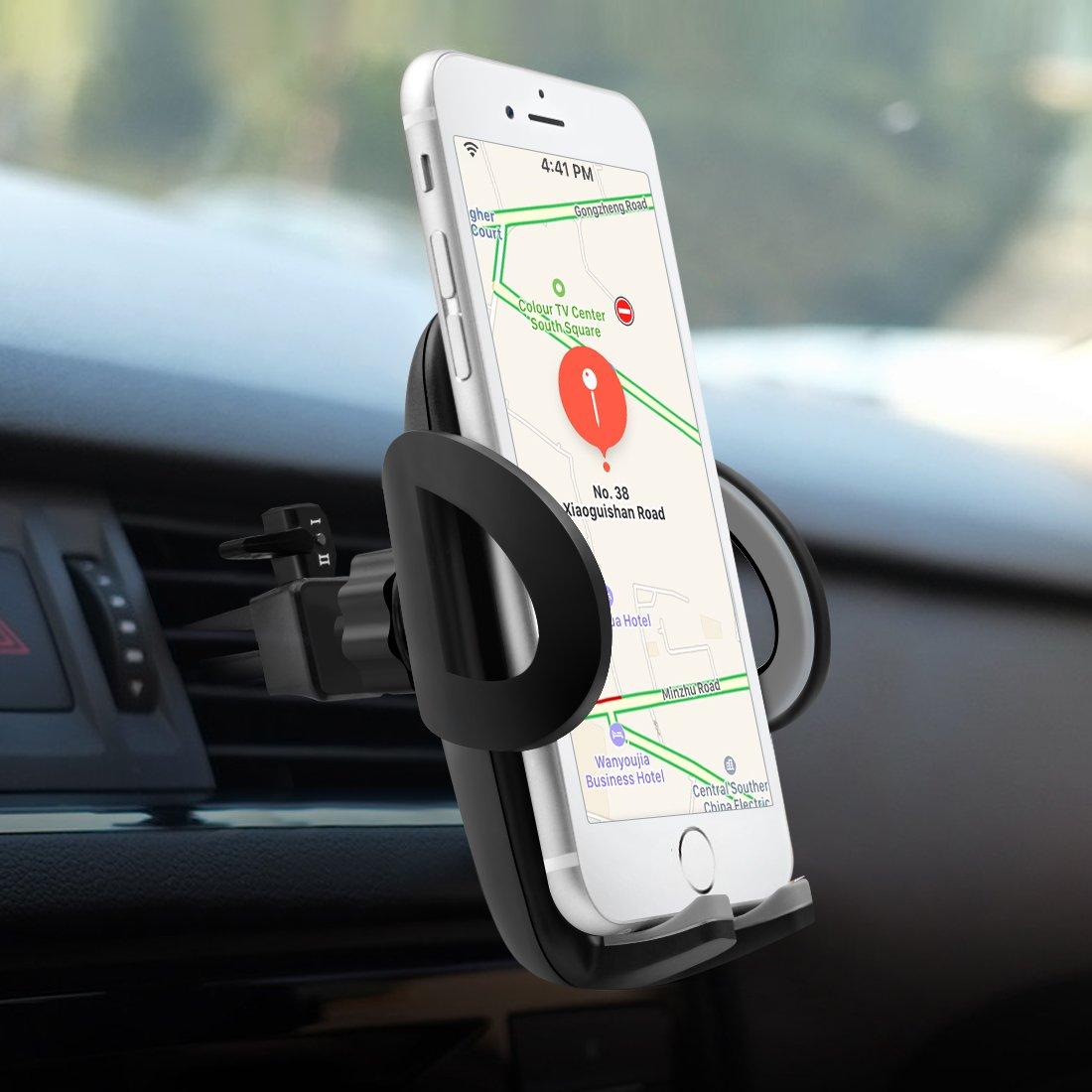 Supporto Auto Smartphone, POOPHUNS Porta Cellulare Auto Bocchette Aria Regolabile e 360 Gradi di Rotazione, Supporto Auto Universale, Porta Telefono Antiscivolo e Stabile Favor Selects
