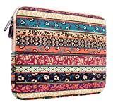 Plemo Bohemian Style Sleeve Carrying Case Bag for iPad Pro 9.7 Inch Tablet / iPad Air 2 / iPad 4 3 2 with Canvas Fabric, Compatible with Apple Smart Keyboard