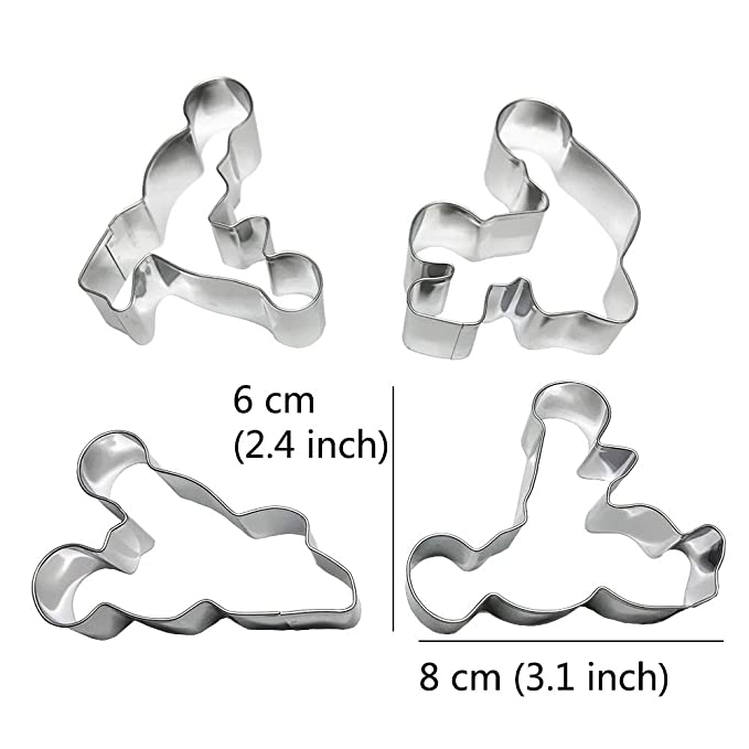 Amazon.com: Juland 4 PCS Creative Stainless Steel Novelty Cookie Cutter Set Cake Biscuit Mold Pastry Baking DIY Mould for Bachelorette Party Favor: Kitchen ...