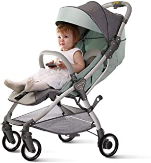Shisky Strollers & Buggies Baby Carriage,Baby Stroller can be Reclining Lightweight Folding Trolley Ultra-Light Small Portable Trolley