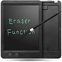 Callas 10.5 Inch Both Full Erase and Partial Erase RuffPad E-Writer LCD with Magnet, Stylus Drawing Handwriting Board, Black