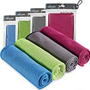 4pc Cooling Towel - Cooling Towels for Neck 4 Pack - Ice Towel Chilly Cool Towel for Athletes, Instant Chill C
