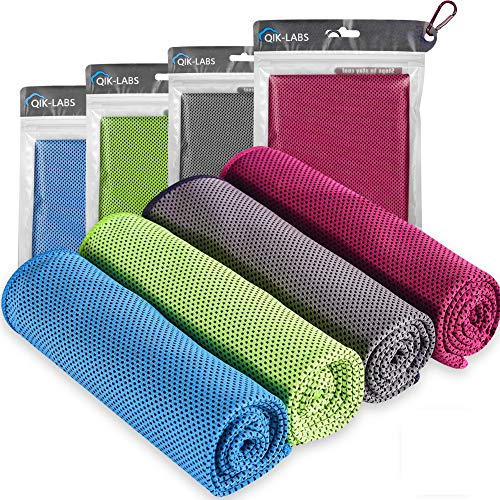 4pc Cooling Towel - Cooling Towels for Neck and Face - Ice Towel Chilly Cool Towel for Athletes, Instant Chill Cooling Cloth as Cool Rags for Neck Cooling Wrap