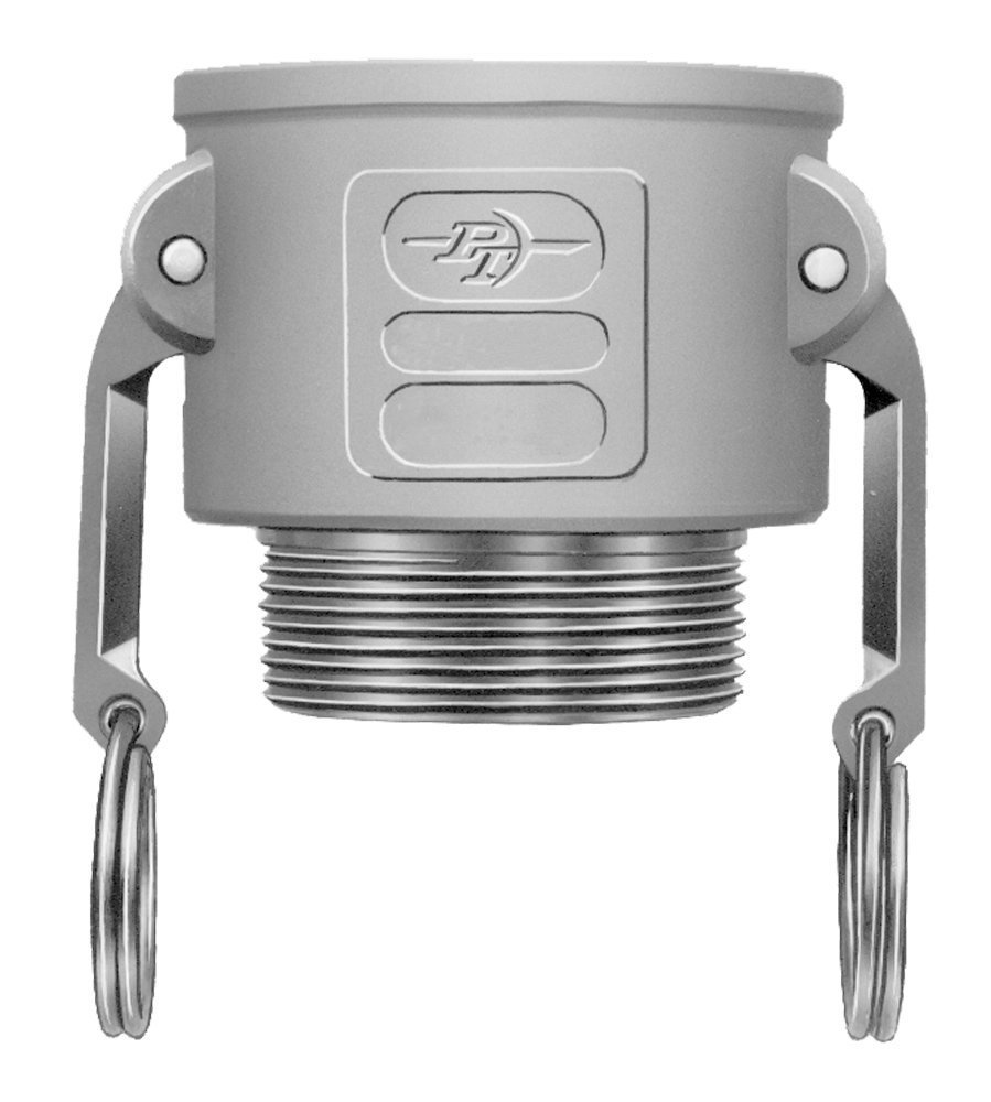 PT Coupling 1000220Basic Standard Series 20B Aluminum Cam and Groove Hose Fitting, B-Coupler, Stainless Steel 300(HBS) Cam Arms, 2'' Coupler x NPT Male