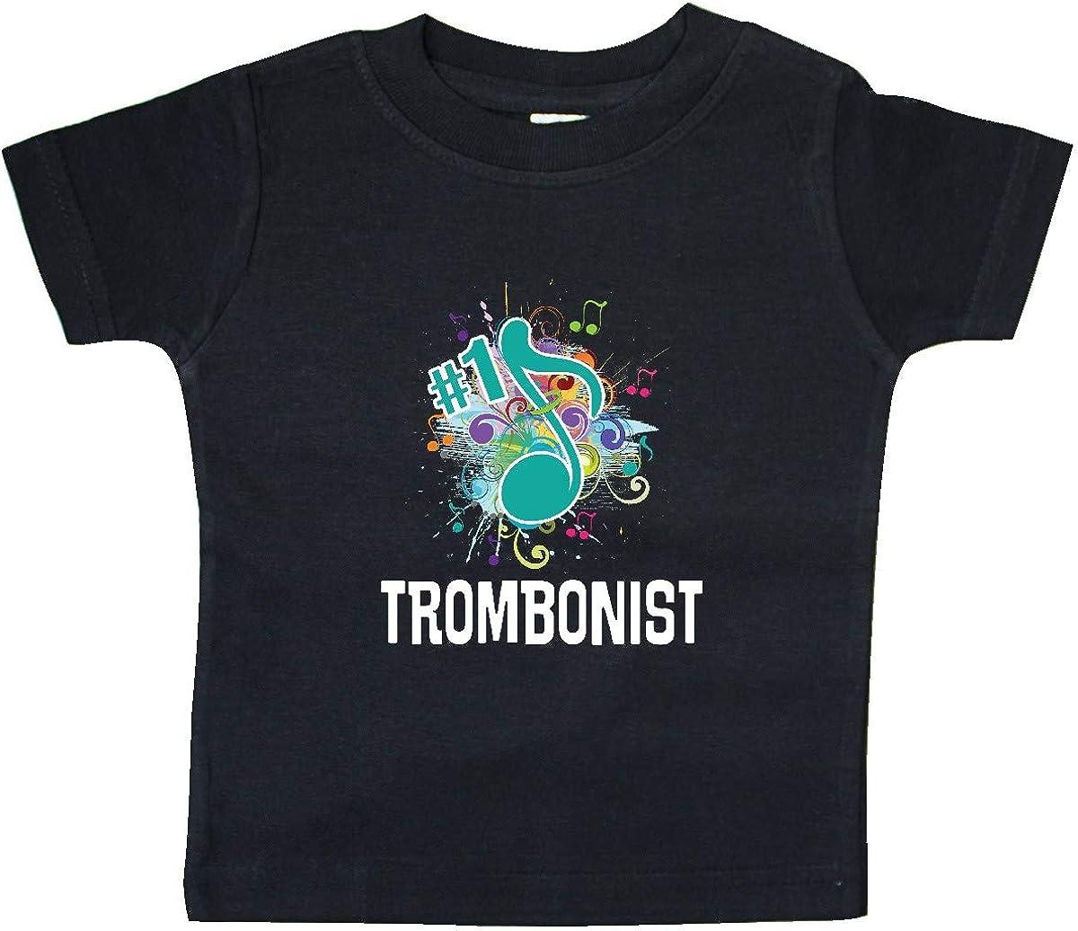 inktastic Trombone Music Gift Number 1 Trombonist Baby T-Shirt