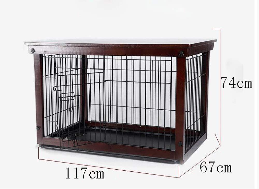 Envío 100% gratuito marrón WENFF Madera Maciza Jaula Jaula Jaula para Perros De Hierro Valla Interior para Mascotas Perros Grandes Medianos Y Pequeños Valla Perros Valla para Perros Valla Doble para Exteriores,marrón-M Medium  alta calidad y envío rápido