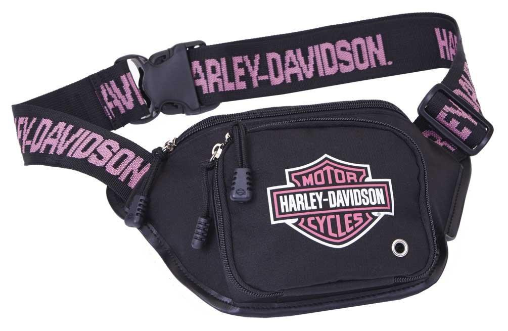 Harley-Davidson Pink Bar & Shield Logo Belt Bag, Water-Resistant 99426-PINK