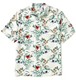 Tommy Bahama Big & Tall Men's Breakaway Blooms Silk Camp Shirt (Continental) (2XB)