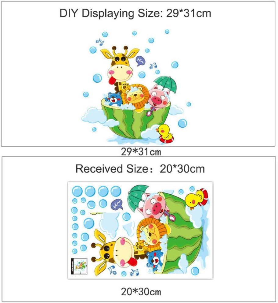 Animales en el baño Ducha Baño Burbujas para niños Habitación para ...