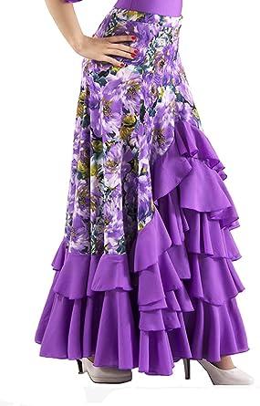 Fabriqu/é en Espagne ANUKA Robe de Danse Flamenco Professionnelle pour Femmes Tissu Extensible sadapte Parfaitement au Corps
