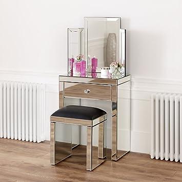 quality design b0a0a b4bfc The Furniture Market Venetian Mirrored Compact Dressing ...