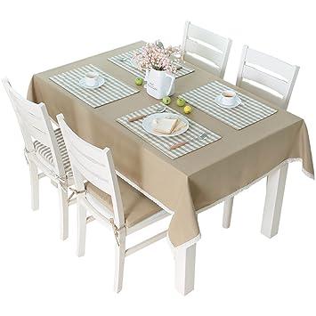 Amazonde Tischdecken Solides Farbgitter Europäisches Tischdecke