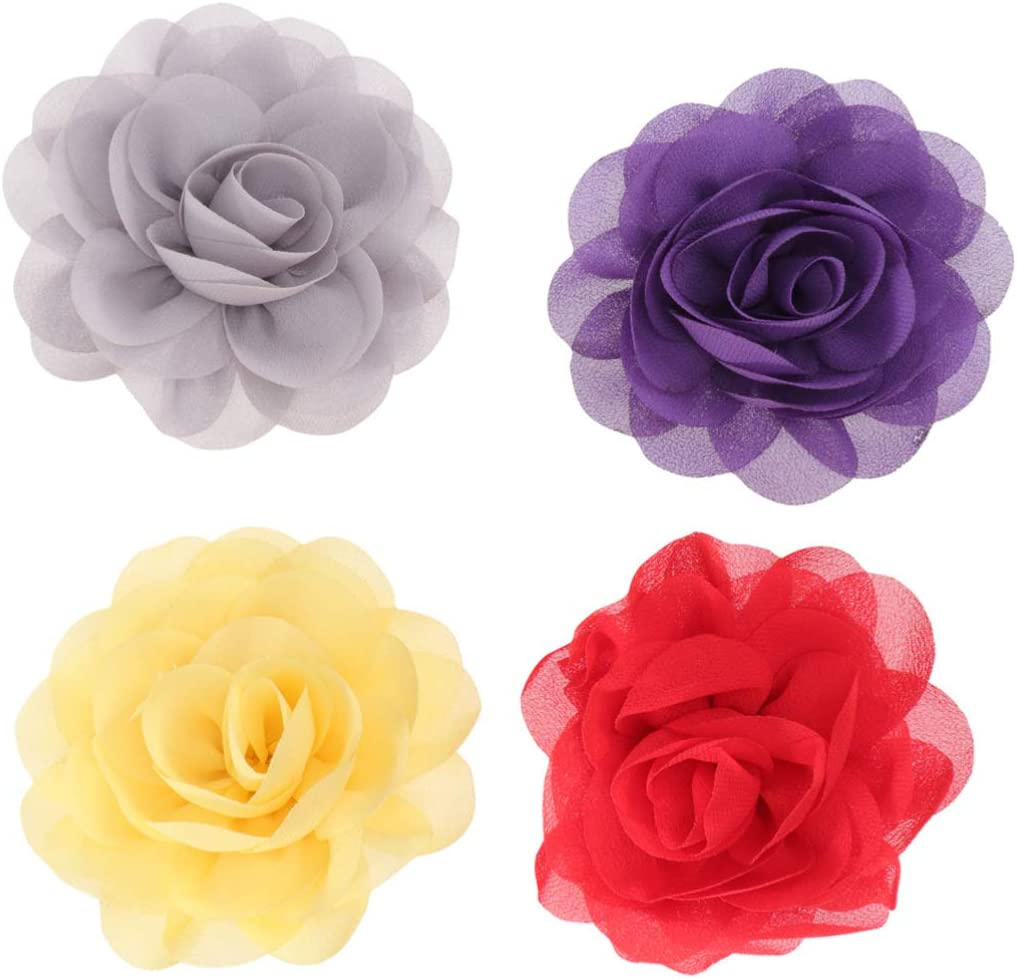POPETPOP Dog Flower Accessories Charm Collars Headwear 12pcs Solid Flower Decorative for Cat Puppy Pet Dress up Ornament Mixed Color