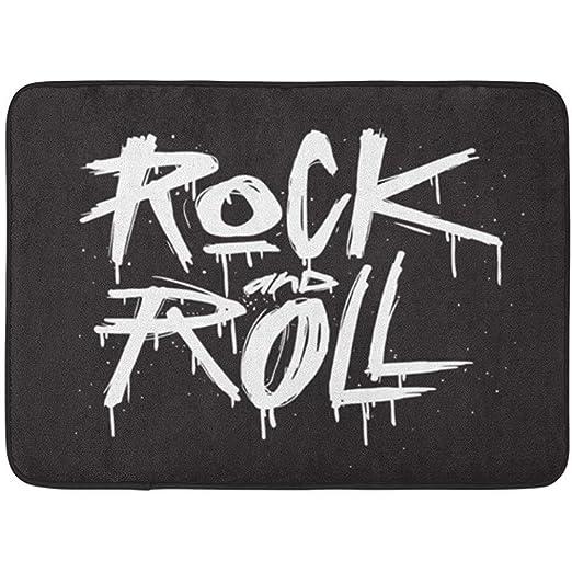 Bienvenido Felpudo 60X40Cm Viejo Bosquejo Rock and Roll Rockn ...