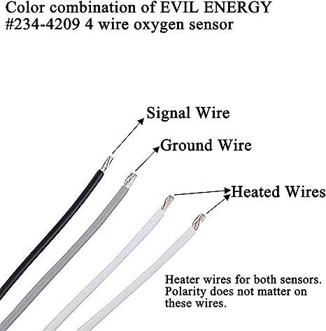 EVIL ENERGY Upstream Downstream Oxygen O2 Sensor 234-4209 Universal for 1989-2016 TOYOTA CHEVROLET GMC HONDA MITSUBISHI etc