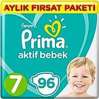 Prima Bebek Bezi Aktif Bebek 7 Beden Aylık Fırsat Paketi, 96 Adet