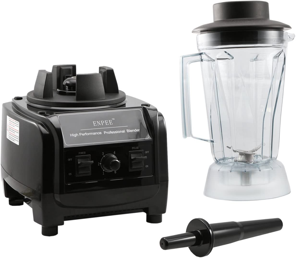 Enpee Quiet Commercial Blender inc Sound Reducing Cover Pre Programmed Modes UK