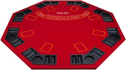Amazon Com 2 In 1 Red Table Top With Carrying Bag Poker Blackjack Sports Outdoors