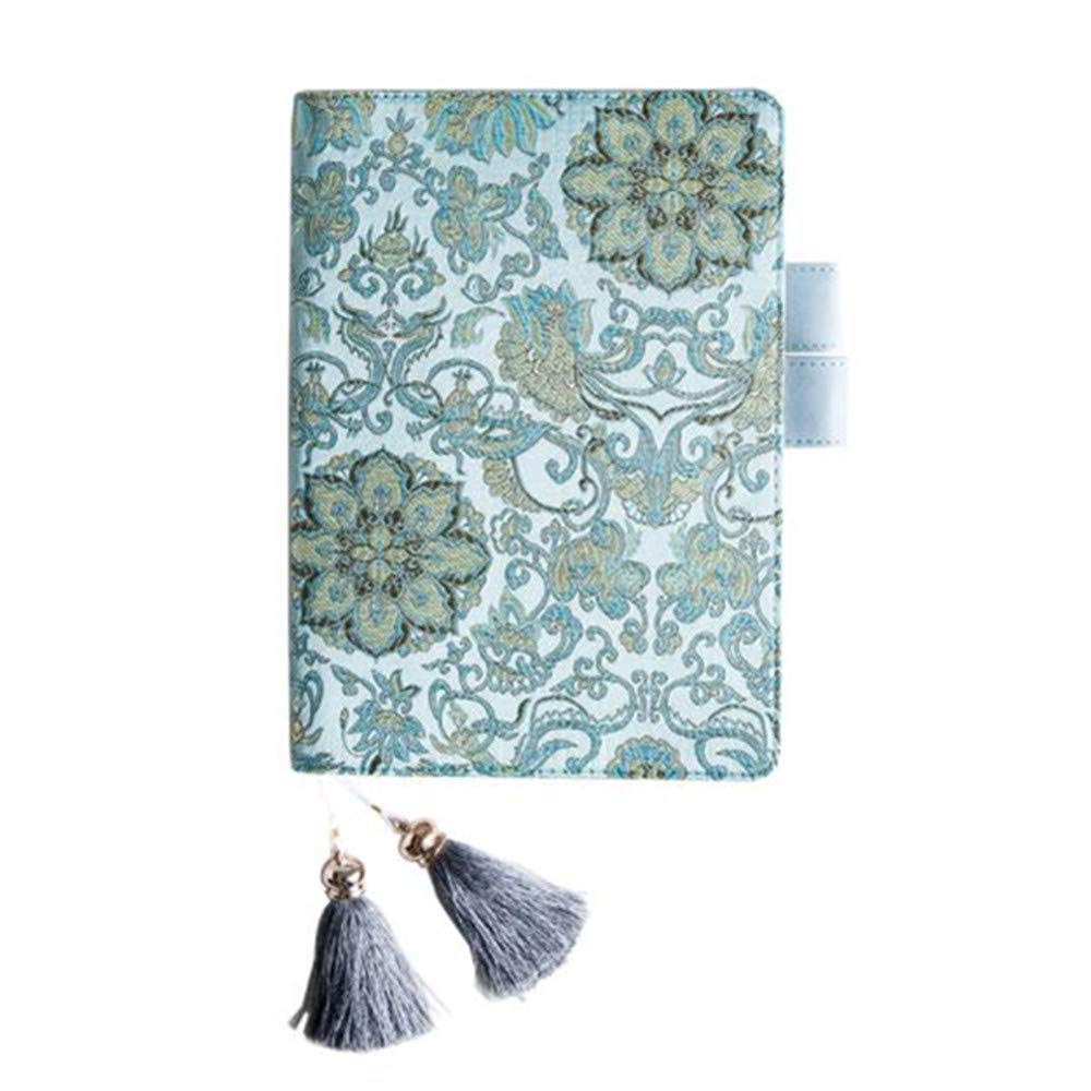 Notebook Cover A5,PU Leather Cover Refillable Notebook with Multi- Postcards Pocket,Pen Holder, for Daily Planner Dairy Agenda Schedule Bullet Journal Book A5 Filler Paper (Teal Mandala Flower) by Koolemon