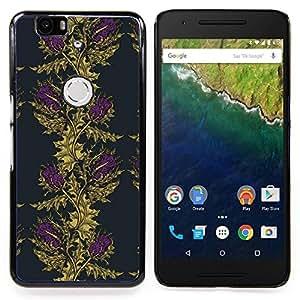 Stuss Case / Funda Carcasa protectora - Viñeta Wallpaper Oro púrpura - Huawei Google Nexus 6P