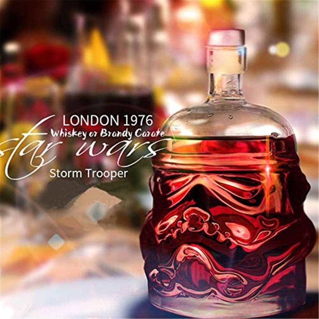 Carafe /à Whisky Creative Star Wars Transparente De 650 ML Brandy Scotch Whisky Bi/ère Carafe /à Whisky Bourbon Verre en Cristal sans Plomb R/ésistant /à La Chaleur