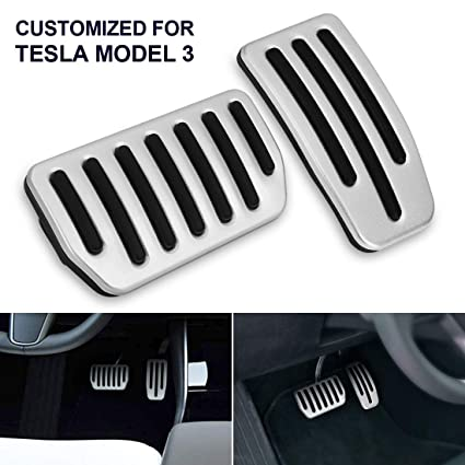 A Set of 2 Accelerator /& Brake Foot Pedal Pads for Tesla Model 3 Auto Aluminum Pedal Covers SUPAREE Model 3 Anti-Slip Foot Pedal Pads